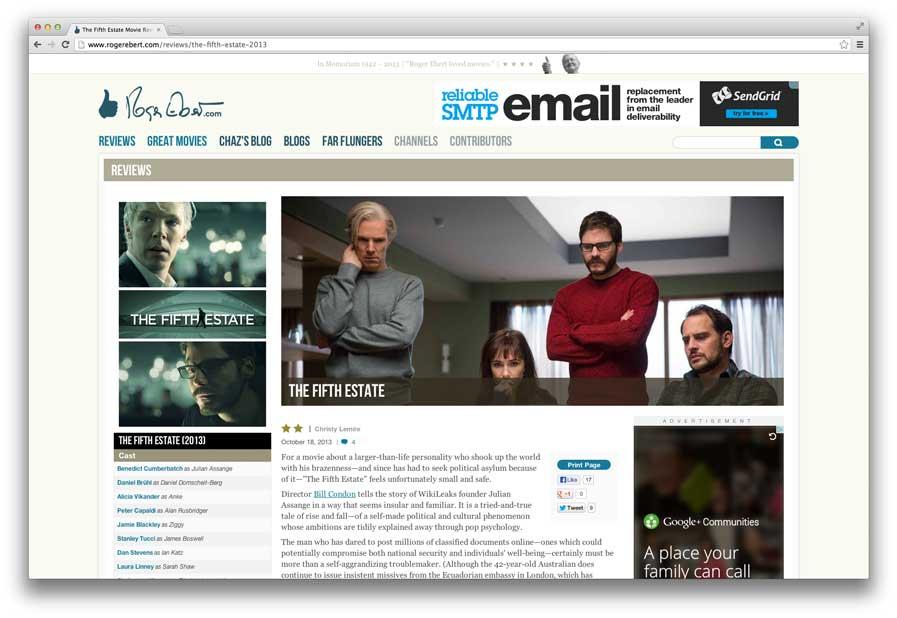 The Roger Ebert site